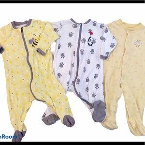0-3 Months Baby Unisex Sleepers—Like New